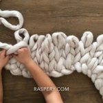 How to knit super chunky merino wool blanket?