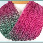 Infinity Scarf knitting pattern Easy to Knit Lace for beginner project Immediate download PDF