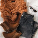 Jaylene Rust Brown Cable Knit Sweater #branddresses This chunky cable knit sweat...