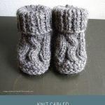 Knit Cabled Baby Booties [Free Knitting Pattern]