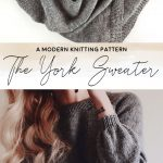 Knit Sweater Knitting Pattern by Darling Jadore | THE YORK SWEATER