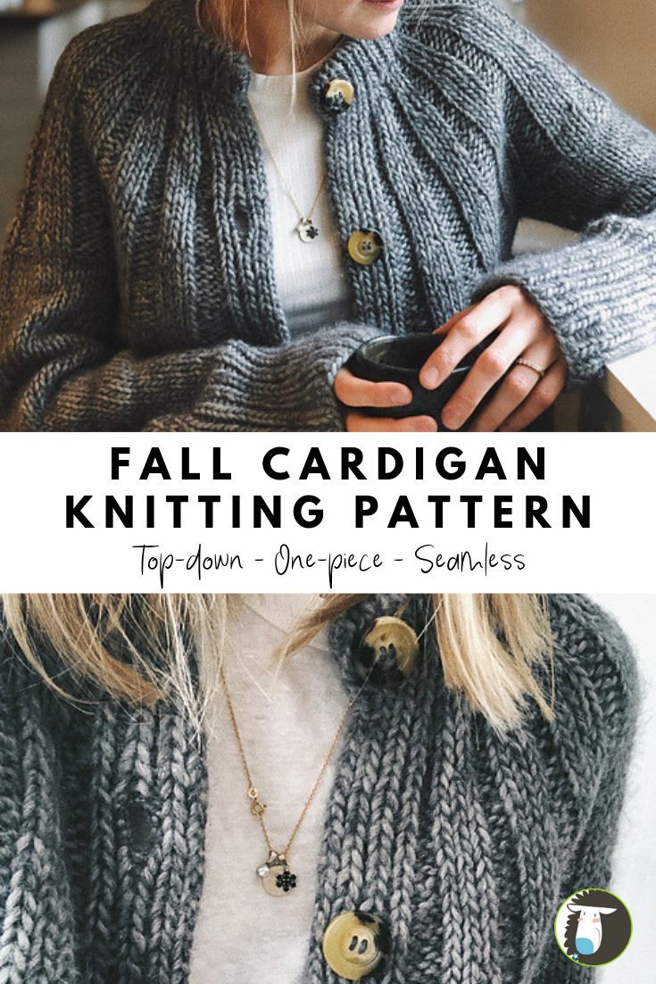 Knit the Sunday Cardigan! This seamless sweater is knitted from the top-down in …