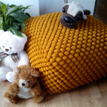 Knitted Pouf Ottoman Kids — Furniture Home Designs : Knitted Pouf Ottoman: Wha...