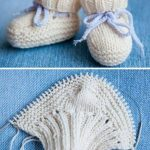 Knitted Striped Baby Booties Pattern - Crochet and Knitting Patterns