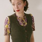Knitted Waistcoat pattern by Susan Crawford