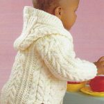 Knitting Pattern Baby/Child's Aran Cable Jacket with/without Hood 0-8 Yrs  (80)  | eBay