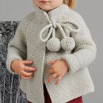 Knitting Pattern for Baby and Child Thea Jacket in Garter Stitch