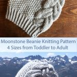 Knitting Pattern for Moonstone Beanie in 4 Sizes Toddler to Adult