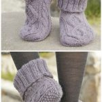 Ladies Knitted Slipper Boots Free Patterns You'll Adore | The WHOot