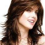 Long Body Loose Layered Wave Bangs Capless Synthetic Wig 16 Inches