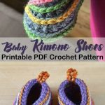 Make these cute shoes for a boy or girl! Crochet kimono baby shoes pattern - Knitting Crochet ideas