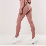 Missguided Rose Cable Knit Leggings size Sm-Med Still available on Missguided si...