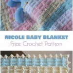Nicole Baby Blanket Free Crochet Pattern and Video Tutorial