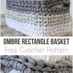 Ombre Rectangle Basket – Free Crochet Pattern | Pattern Forest