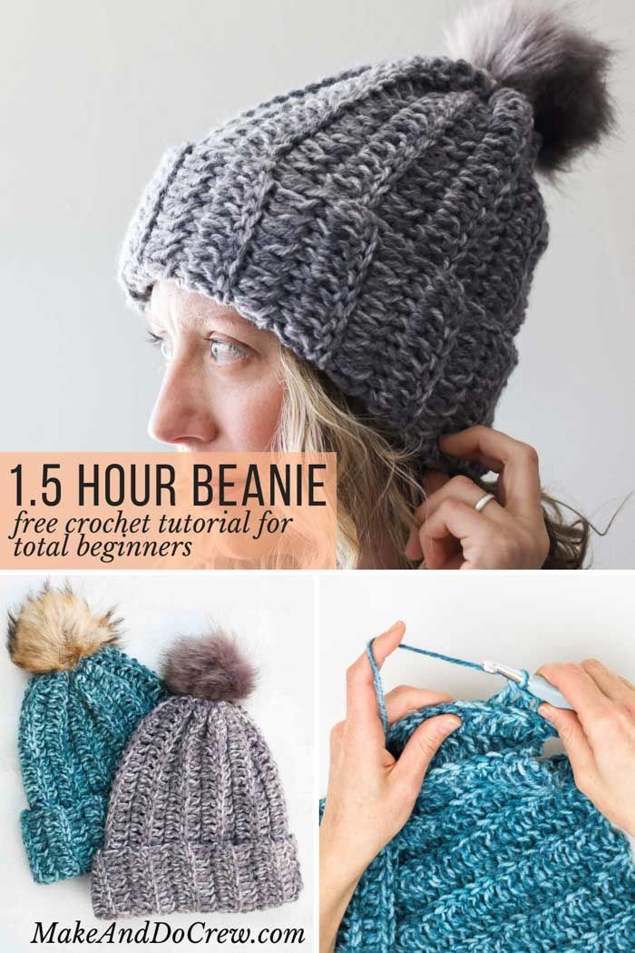 One Hour Free Crochet Hat Pattern for Beginners (+ Video Tutorial) – Crochet and Knitting Patterns