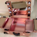 Online Shop Rose-Golden LED White Lights Studio Wheeled Professional Beauty Box Trolley Makeup Case & Organizer with Light  2016 New | Aliexpress Mobile