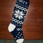 PDF Pattern Only Original Design Snowflake # 2 Christmas Stocking Hand Knitted