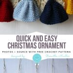 Quick and Easy Christmas Ornament Free Crochet Pattern - Free Crochet Patterns