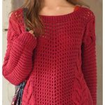 Red oversized jumper free pattern