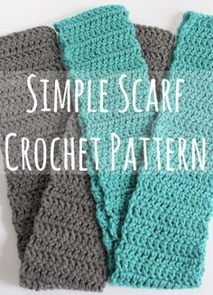 Simple Scarf Crochet Pattern + Video | Make and Takes
