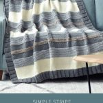 Simple Stripe Knitted Blanket [FREE Knitting Pattern] :  Create this chic knitte...