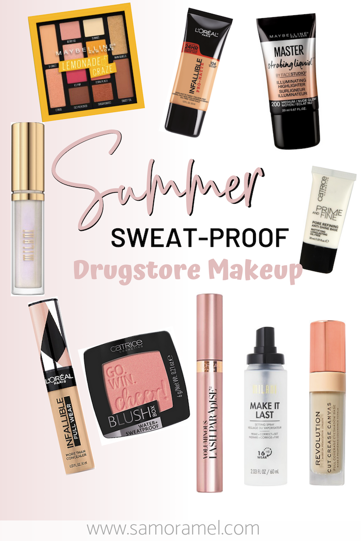 Summer sweat-proof drugstore makeup must haves!