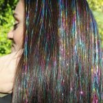TAPE-IN Hair TINSEL Extensions -100 sparkle strands on 5 inches of hair tape #Ad...