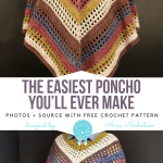 The Easiest Poncho You'll Ever Make Free Crochet Pattern - Free Crochet Patterns