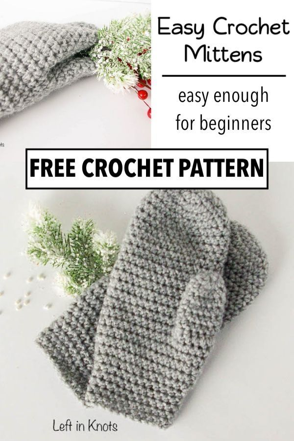The Perfect Fit Mitten – Free Crochet Pattern for Beginners — Left in Knots