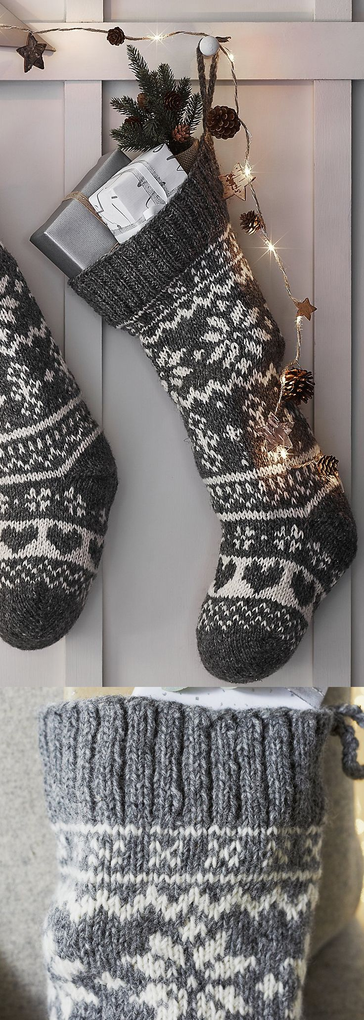 The White Company – Fair Isle Christmas Stocking. Cosy and oh-so Christmasy, we …