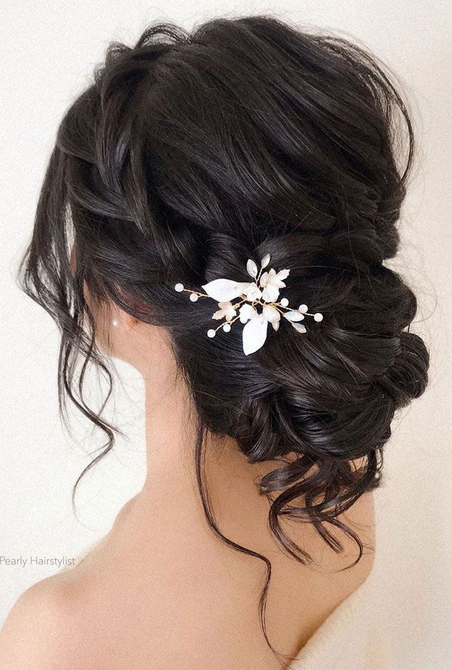 The most romantic bridal hairstyle to get an elegant look – Wedding hairstyles | Wedding makeup | Nail Art Designs