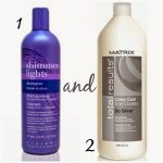These products are THE BEST to get any brassy orange color out of your blonde ha...