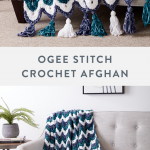 This elaborate crochet blanket is a masterpiece, featuring rows of arches in var...