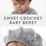 This free baby beret crochet pattern has an heirloom quality when worked up in P...