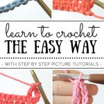 This series is such a great way to learn to crochet for beginners. The Learn to Crochet the Easy Way series has 10+ step by step crochet tutorials for beginners! You will learn the basic crochet materials to get started, all four of the basic crochet stitches, how to crochet in the round, and more! If you're new to crochet, this is the place to be. We'll have you crocheting like a pro in no time. -via Sigoni Macaroni - Crochet and Knitting Patterns