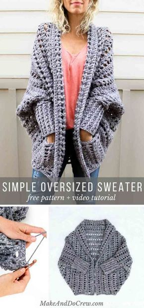 Video Tutorial: Beginner Friendly Crochet Dwell Sweater