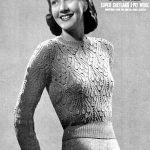 Vintage Knitting Pattern - Women's  knitted jumper in Bluebell pattern, Ladies knitted sweater, Vintage knit smart sweater, Christmas Gift