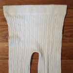 White cable knit leggings White cable knit stockings/leggings/tights. They are a...