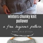 Winters Chunky Easy Knit Pullover Pattern