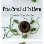 World Turtle Succulent Holder Free Crochet Pattern - Crochet and Knitting Patterns