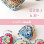 You can easily make these adorable little crochet hearts with a free pattern and...