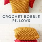 Free Crochet Pillow Pattern | Practice your bobble stitch with this fun crochet ...