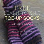 How to knit socks | learn to knit socks | sock knitting | toe up socks | free kn...