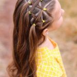 hairstyle girl elastic yellow #hairstyles #girl #beautyhairstyles - Haarformen | Haar-Trends